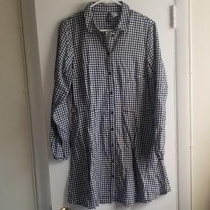 H&M DIVIDED PATTERNED SHIRT DRESS